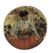 Toréador saluant, tambour de basque
